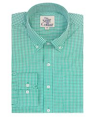 Bottle Green Gingham Button Down Shirt �'�1699.00