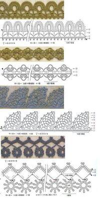 Crochet edges #crochet �™� �™�... #inspiration #crochet #knit #diy GB http://www.pinterest.com/gigibrazil/boards/