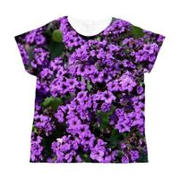 Purple Flowers Women's All Over Print T-Shirt