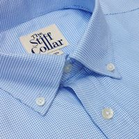Blue Houndstooth 2 Ply Premium Giza Cotton Button Down Shirt �'�1999.00
