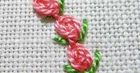 #1 of 2 Oyster Stitch Rose Buds Tutorial. Mary Corbet of Needle 'n Thread. See all here- http://www.needlenthread.com/2013/05/stitch-fun-oyster-stitch-buds.html
