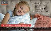 Layla offers you the most comfortable copper infused pillow that helps to reduce your neck pain and makes your morning refreshed and pain-free. Order Layla Pillow online and get $20 off on your every order. For more details, visit the website https://layl...