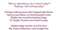 The Nothing Poem, A poem about Preschool