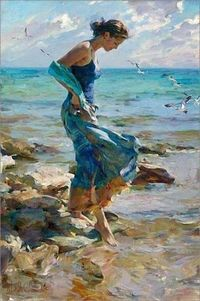 The Allure. Artists: M & I Garmash. This couple work together on their paintings. Beautiful! http://www.garmash-artist.com/index.html