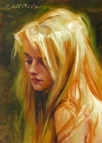 Original Oil Portrait Painting Halo by Larriva on Etsy