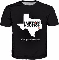 I Support Houston Classic Black T-Shirt $25.00