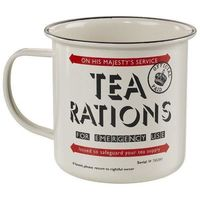 Home Front Tin Mug Tea Rations Wild And Wolf £6.99