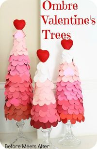 Ombre Valentine's Day Heart Tree