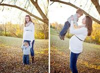 Fall Maternity Session | Southern Daisy Photography: With older sibling