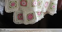 Inspiration :: Delicate & pretty afghan, motif pattern from German book. . . . . �ƒ�Trish W ~ http://www.pinterest.com/trishw/ . . . . #crochet #blanket #throw