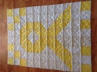 Awareness Ribbon Rag Quilt by GrannysRagQuilts on Etsy, $85.00