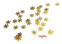 Pack of 100 Sequins. Christmas Confetti. Xmas 5mm Gold Snowflakes £5.79