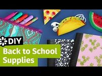 DIY Back to School Supplies: Pencil Case, Cord Taco & Mini Notebooks | Sea Lemon - YouTube