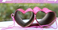 Heart-shaped binoculars are so easy to make, but they're even MORE fun to play with! This year, we're really embracing Valentine's day. We've played with Valent