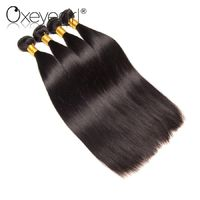 Oxeye girl Brazilian Hair Weave Bundles 1Pc Straight Human Hair Bundles 100% Natural Color Non Remy Hair Extensions Double Weft £19.11
