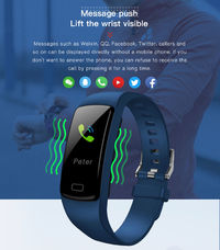 XANES® Y9 0.96'' IPS Screen IP67 Waterproof Smart Watch Pedometer Blood Pressure Oxygen Monitor Information Push Fitness Sports Bracelet