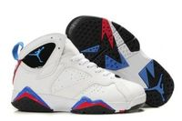 Cheap Nike Air Jordan 7 Womens Blue White Black Red Cheap Shoes
