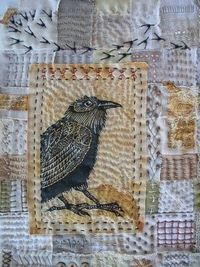 Great art quilt!. Detail from Seasons of the Crow by Meg Fowler.