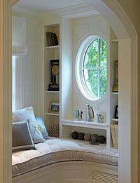 We absolutely must have a cozy reading nook some day :)