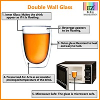 EZ Life's Double Wall Glass has additional features, they are stylish, classy and creative. Enhance your dining décor with our double wall collection.  Buy now on - https://www.ezlife.in/double-wall-collection/18