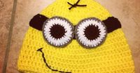 Dispicable Me Minion Crochet beanie For Laura