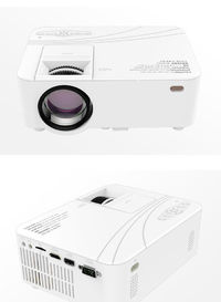 S1 LCD Projector Support 1080p HD Multimedia Home Cinema Smart Home Theater LED Projector Phone Mirroring Version