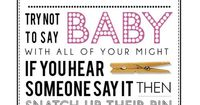 Clothespin Game Printable PDF for Girl Baby Shower