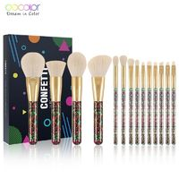�Ÿ˜�Docolor 14Pcs Christmas Makeup Brushes Professional Powder Foundation Eyeshadow Make up Brushes Set Synthetic Hair Cosmetic Tool�Ÿ˜� $44.98