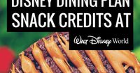 Here's an in-depth and extremely helpful guide that will teach you how to maximize Disney Dining Plan snack credits, giving you the most bang for your buck.