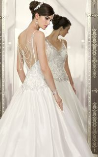 """From the designer: """"Combining a superb fit with couture finishing, Essense of Australia brings an attention to detail that sets our wedding dresses apart from t"""