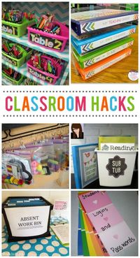 Today we have so many awesome classroom organization ideas for teachers. Keeping a space that contains 20+ children in it can be chaotic, but with these great h