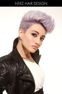 James Dean Inspired Pompadour. Pomp with a twist. Pastel hair.