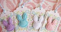 Easter Bunny Rabbit tags (packaging is awesome - imagine with valentinepost+ cello bag)