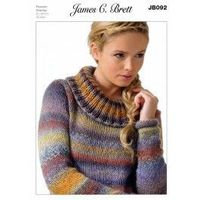 Sweater in James C. Brett Passion Chunky (JB092) $4.39