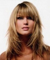 Can I do this? Can I rock bangs....again? (I know the first time around was just awful!) Will I find bangs annoying or my saving grace by keeping my hair out of my face? Something to think about.