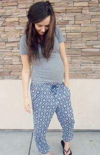 cute maternity wear - comfy pants!
