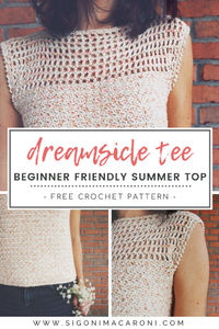Dreamsicle Tee Crochet Pattern Beginner-Friendly Summer Top