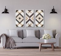 Triptych Set of 3 Artisan Designer Handcrafted Reclaimed Wood Feature Wall Frame | Large Wall Frame | Farmhouse Wall Decor | Rustic Decor $1155.00