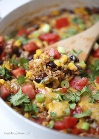 Homemade burrito bowls ...done in one pot, in 30 minutes!