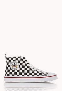 Checkered Mickey High-Tops | FOREVER21. I've loved these since I first saw them in April. May have just bought them when I found out there were still in stock and on sale. Maybe.
