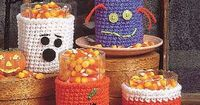 Halloween Glass Cozies (would love to create these for most holidays and just swap them out over the same glass!)