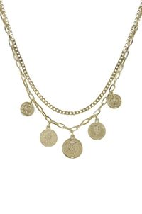 All About the Coin Layered Necklace �'�60.00