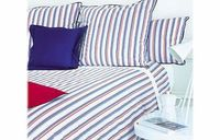 Descamps Josephine Azur Bedding Duvet Covers Single Combining an interesting design with all the rest and relaxation you need from a top quality bedding set the Josephine Azure Bedding combines cool and chilled stripes on a luxury 100% cotton bedding....