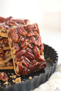 You won't be able to stop eating these! They are so EASY to make and too dangerous to have around. BEST EVER pecan bars! I'm NEVER making these bars again! EVER