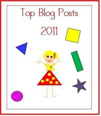 Check out all the top blog posts about preschoolers, learning and play, in 2011! Lot's of links to great ideas for kids!
