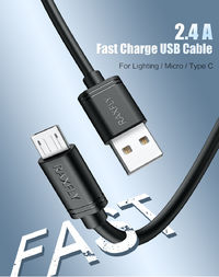 RAXFLY 2.4A Micro USB Fast Charging Data Cable 2M For Xiaomi Redmi Note 5 6 S7 Camera MP4