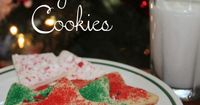 This recipe looks like the Christmas cookies we always made every year!