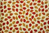 Patrick Lose Fabrics / Autumn Palette / Colorful Leaves on Cream $8.99