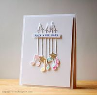 Lullaby Card by Cristina Kowalczyk for Papertrey Ink (January 2014)