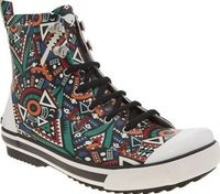 Rocket Dog Multi Rainy Sprocket Womens Boots Rainy days just got a whole lot more exciting thanks to Rocket Dog as the Sprocket splashes onto the scene. This durable ankle boot features a rubber upper adorned with a colourful Aztec-inspired prin http://ww...